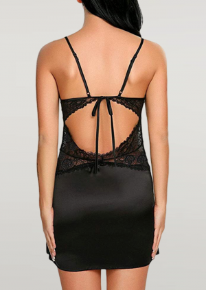 Sensual Deep V-Neck Sexy Night Dress